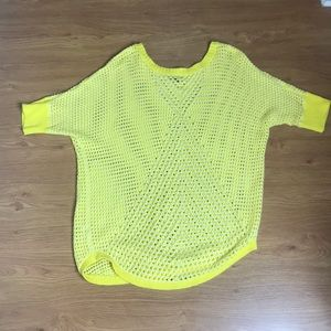 a.n.a Yellow and White Knit Sweater Size XL